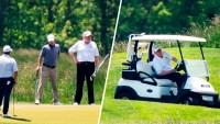 Trump regresa a uno de sus clubes de golf por primera vez desde el inicio de la pandemia