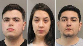 Diego Martínez, Jamie Vásquez y Orlando Orozco, los tres arrestados en este operativo.