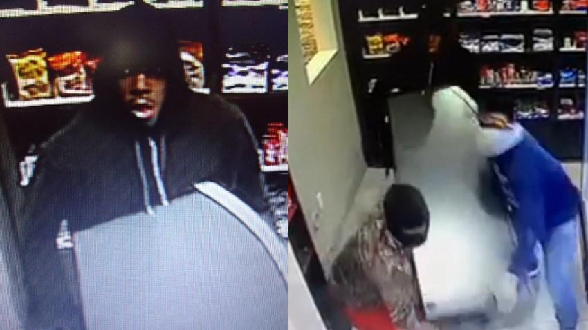 los ladrones fueron captados por las cámaras de seguridad del lugar.