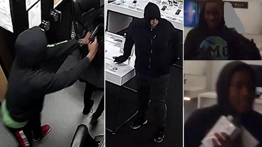 Buscan a cinco por robo a tienda de celulares en Pasadena