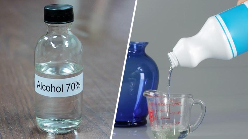 cloro alcohol coronavirus