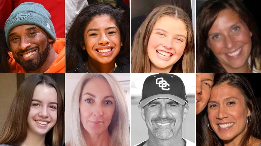 From top-left, clockwise: Kobe Bryant, Gianna Bryant, Payton Chester, Sarah Chester, Christina Mauser, John Altobelli, Keri Altobelli and Alyssa Altobelli died on Sunday, Jan. 26, 2020, after the helicopter they traveled in crashed in Los Angeles.
