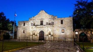 El Álamo en San Antonio, Texas.
