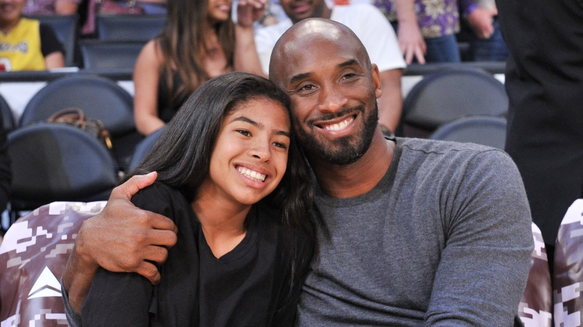 In this file photo, Kobe Bryant and his daughter Gianna Bryant attend a basketball game between the Los Angeles Lakers and the Atlanta Hawks at Staples Center on November 17, 2019 in Los Angeles, California.
