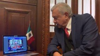 Presidente mexicano sigue transmisión de T-MEC.