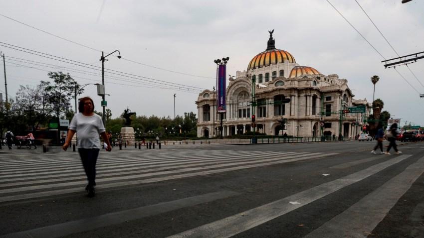 Calles vacías en Ciudad de México