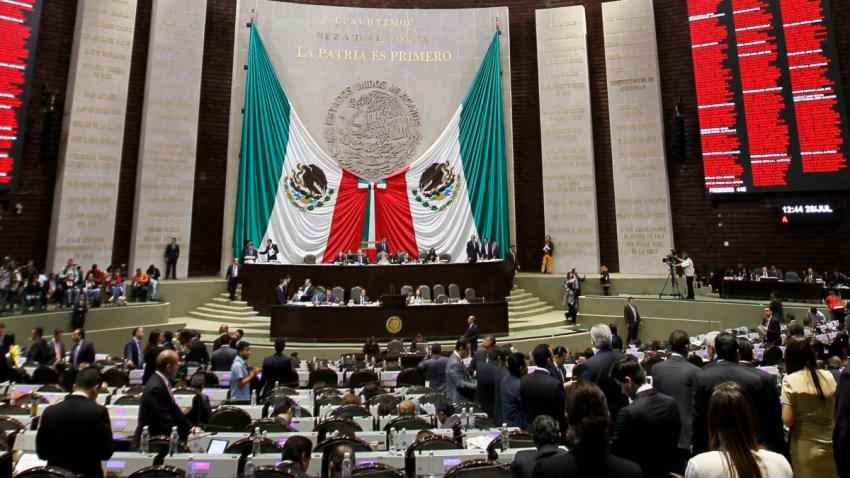 Diputados mexicanos en sesión