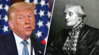 Trump y Susan B Anthony