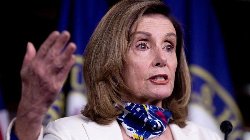 En la imagen, la presidenta de la Cámara Baja, la demócrata Nancy Pelosi.