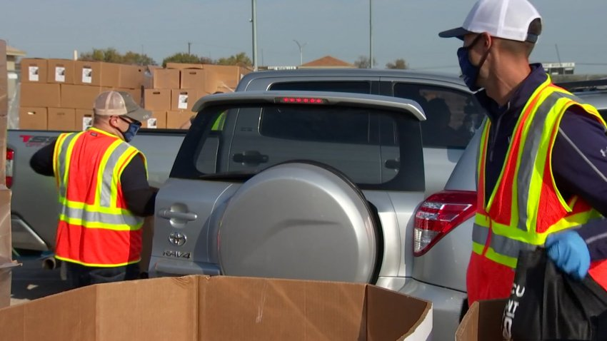 The holidays can be a time of uncertainty for many North Texas families, as COVID-19 numbers rise. A holiday food distribution event planned for Saturday at Fair Park, is offering hope for thousands of people. Here's NBC 5's Yona Gavino with a preview.