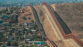 Imagen del muro fronterizo en Tijuana