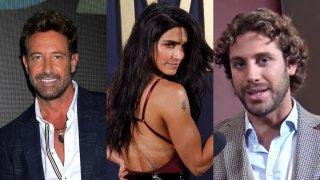 Combo de tres fotografías de la actriz Bárbara de Regil, Gabriel Soto y Lambda García