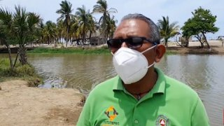 Fotografía del director de Protección Civil en Puerto Escondido