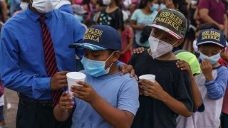makeshift migrant camp us mexico border