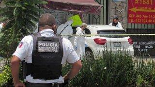 Escena de un crimen en Morelia, México