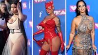 Varias estrellas hicieron a muchos perder el aliento al llegar a los MTV Video Music Awards con sus atrevidos vestuarios que dejaron poco a la imaginación.