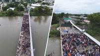 El Gobierno de México dio prioridad el ingreso de mujeres y menores de edad en la frontera sur del país.