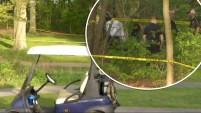 Autoridades investigan el caso que dejó perturbados a visitantes de este campo de golf en Boston.