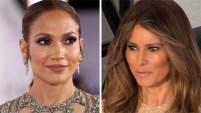 Un día después de que Jennifer López cautivara con un traje de gala, la nueva Primera Dama aparece vistiendo de la misma diseñadora y el mismo corte de