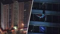 Filadelfia: un hombre decidió descender de una torre de 15 pisos tras un incendio ocurrido al interior del edificio.