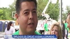 Empleados de Comcast apoyan a comunidad en jornada de ayuda