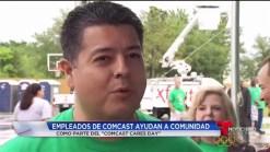 Empleados de Comcast participan en jornada de ayuda a la comunidad