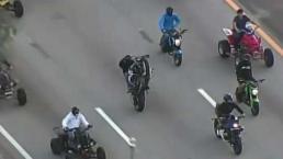 Al menos 10 motociclistas arrestados