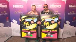 """J Balvin y Sean Paul reciben reconocimiento por """"Contra la Pared"""""""