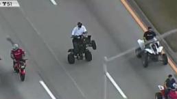 Motociclistas se toman vías de Miami