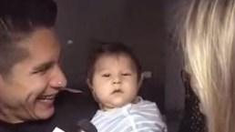 Chyno Miranda presenta a su bebé, Lucca
