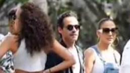 Marc Anthony y su nueva novia se encuentran con JLo