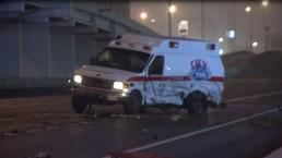 Fotos: presunto borracho en contravía estrella ambulancia