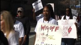 Protestas se toman el centro de Houston