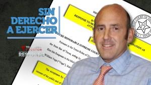 José Vega está impedido para litigar en Texas