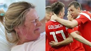 Rusa da a luz festejando un gol y nombra al niño como el jugador