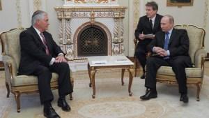 """Tillerson: relaciones con Rusia están en un """"punto bajo"""""""