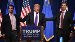 Lejos de la política, el rol de los hijos de Trump