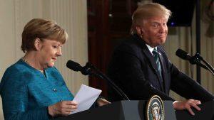 Trump ataca a Alemania tras reunión con Merkel