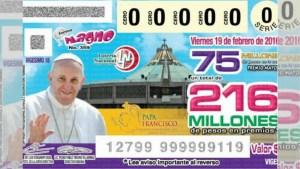 México: Usan imagen del Papa en sorteo