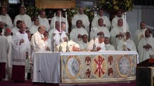 Papa culmina primera jornada en México con la Virgen