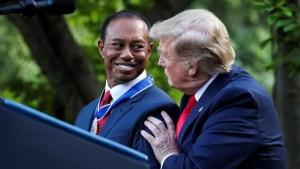 Trump entrega a Tiger Woods importante reconocimiento