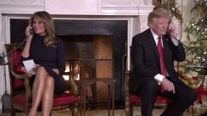 Trump responde llamadas de niños que buscan a Santa