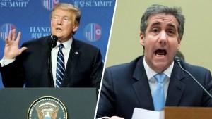 Trump insinúa que Cohen contribuyó a fracaso en la cumbre