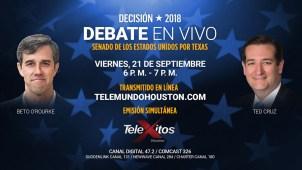 En Telemundo Houston: Debate entre Cruz y Beto