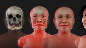 Mujer de 13,600 años recupera su rostro; murió de 20