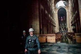 Primeras imágenes del interior de la catedral de Notre Dame