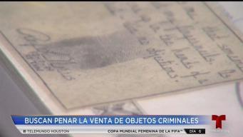 Activistas buscan parar venta de objectos criminales