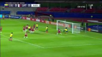 Adelantado...el gol anulado de Colombia ante Qatar