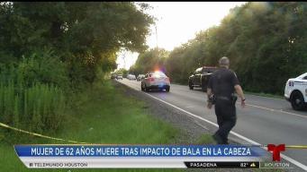 Bala perdida mata a mujer de 62 años