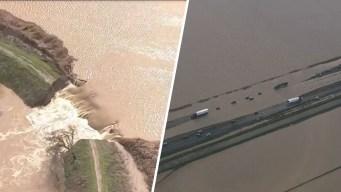 En video: carreteras inundadas o destruidas por las lluvias al norte de California